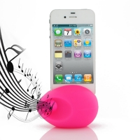 Acoustic Amplifier for Apple iPhone 4 | iPhone 4s (Petal Pink Ellipse Shape)