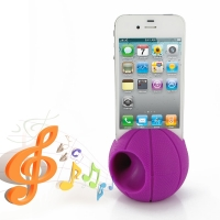 Acoustic Amplifier for Apple iPhone 4 | iPhone 4s (Purple Basketball Shape)