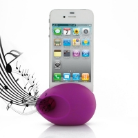 Acoustic Amplifier for Apple iPhone 4 | iPhone 4s (Purple Ellipse Shape)