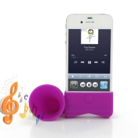 Acoustic Amplifier for Apple iPhone 4 | iPhone 4s (Purple Horn Shape)