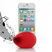 Acoustic Amplifier for Apple iPhone 4 | iPhone 4s (Red Ellipse Shape)