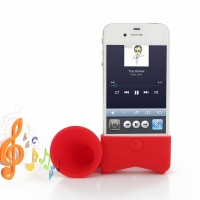 Acoustic Amplifier for Apple iPhone 4 | iPhone 4s (Red Horn Shape)