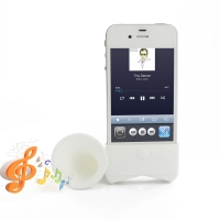 Acoustic Amplifier for Apple iPhone 4 | iPhone 4s (White Horn Shape)