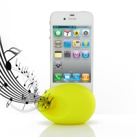 Acoustic Amplifier for Apple iPhone 4 | iPhone 4s (Yellow Ellipse Shape)