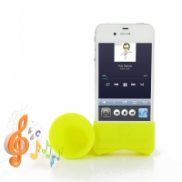 Acoustic Amplifier for Apple iPhone 4 | iPhone 4s (Yellow Horn Shape)