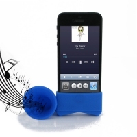 Acoustic Amplifier for Apple iPhone 5 | iPhone 5s (Blue Horn Shape)