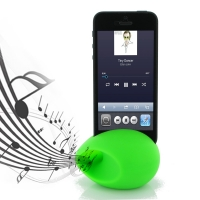Acoustic Amplifier for Apple iPhone 5 | iPhone 5s (Green Ellipse Shape)