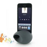 Acoustic Amplifier for Apple iPhone 5 | iPhone 5s (Grey Ellipse Shape)