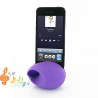 Acoustic Amplifier for Apple iPhone 5 | iPhone 5s (Purple Ellipse Shape)