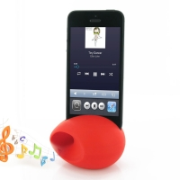 Acoustic Amplifier for Apple iPhone 5 | iPhone 5s (Red Ellipse Shape)