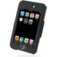 iPod Touch 2nd Aluminum Metal Case (Black) PDair Premium Hadmade Genuine Leather Protective Case Sleeve Wallet