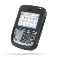 BlackBerry 8700 Aluminum Metal Case (Black) PDair Premium Hadmade Genuine Leather Protective Case Sleeve Wallet