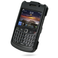 BlackBerry Bold 9780 Aluminum Metal Case (Black) PDair Premium Hadmade Genuine Leather Protective Case Sleeve Wallet