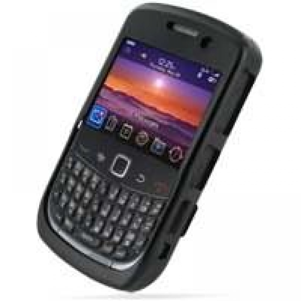 Blackberry curve 9300 aluminum metal case black pdair for Housse blackberry curve 9300