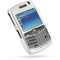 BlackBerry Curve 8300 Aluminum Metal Case (Silver) PDair Premium Hadmade Genuine Leather Protective Case Sleeve Wallet