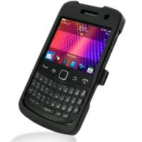 BlackBerry Curve 9360 Aluminum Metal Case (Black) PDair Premium Hadmade Genuine Leather Protective Case Sleeve Wallet
