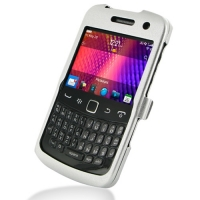 BlackBerry Curve 9360 Aluminum Metal Case (Silver) PDair Premium Hadmade Genuine Leather Protective Case Sleeve Wallet