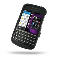 Aluminum Metal Case for BlackBerry Q10 (Black)