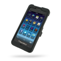 BlackBerry Z10 Aluminum Metal Case (Black) PDair Premium Hadmade Genuine Leather Protective Case Sleeve Wallet