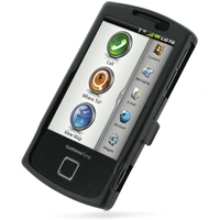 Garmin nuvifone A50 Aluminum Metal Case (Black) PDair Premium Hadmade Genuine Leather Protective Case Sleeve Wallet