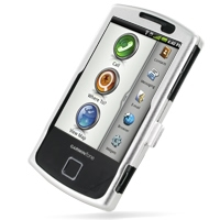 Garmin nuvifone A50 Aluminum Metal Case (Silver) PDair Premium Hadmade Genuine Leather Protective Case Sleeve Wallet