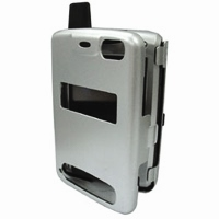 HP iPAQ h6300 Series Aluminum Metal Case (Silver) PDair Premium Hadmade Genuine Leather Protective Case Sleeve Wallet