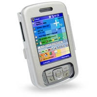 HP iPAQ rw6800 Series Aluminum Metal Case (Silver) PDair Premium Hadmade Genuine Leather Protective Case Sleeve Wallet