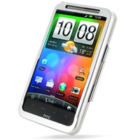 HTC Inspire 4G Aluminum Metal Case (Silver) PDair Premium Hadmade Genuine Leather Protective Case Sleeve Wallet