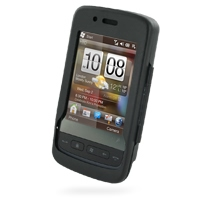 HTC Touch 2 Aluminum Metal Case (Black) PDair Premium Hadmade Genuine Leather Protective Case Sleeve Wallet
