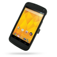 Nexus 4 Aluminum Metal Case (Black) PDair Premium Hadmade Genuine Leather Protective Case Sleeve Wallet