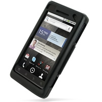 Motorola Milestone 2 / DROID 2 Aluminum Metal Case (Black) PDair Premium Hadmade Genuine Leather Protective Case Sleeve Wallet