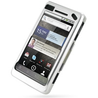 Aluminum Metal Case for Motorola Milestone 2 A953/DROID 2 A955 (Silver)