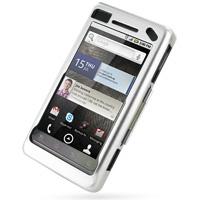 Motorola Milestone 2 / DROID 2 Aluminum Metal Case (Silver) PDair Premium Hadmade Genuine Leather Protective Case Sleeve Wallet