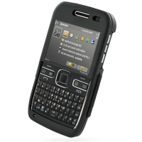 Nokia E72 Aluminum Metal Case (Black) PDair Premium Hadmade Genuine Leather Protective Case Sleeve Wallet