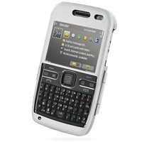 Nokia E72 Aluminum Metal Case (Silver) PDair Premium Hadmade Genuine Leather Protective Case Sleeve Wallet