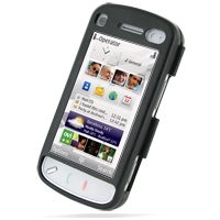 Aluminum Metal Case for Nokia N97 (Black/Open Screen Design)