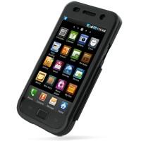 Samsung Galaxy S / Plus Aluminum Metal Case (Black) PDair Premium Hadmade Genuine Leather Protective Case Sleeve Wallet