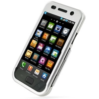 Samsung Galaxy S / Plus Aluminum Metal Case (Silver) PDair Premium Hadmade Genuine Leather Protective Case Sleeve Wallet