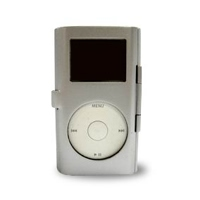 iPod mini Aluminum Metal Case with Neck Strap (Silver) PDair Premium Hadmade Genuine Leather Protective Case Sleeve Wallet