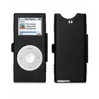 iPod nano 2nd Aluminum Metal Case with Neck Strap (Black) PDair Premium Hadmade Genuine Leather Protective Case Sleeve Wallet