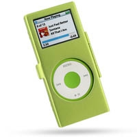 iPod nano 2nd Aluminum Metal Case with Neck Strap (Green) PDair Premium Hadmade Genuine Leather Protective Case Sleeve Wallet