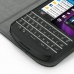 BlackBerry Q10 Leather Flip Cover Case (Purple Stitch) genuine leather case by PDair