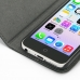 iPhone 5c Leather Flip Cover Case genuine leather case by PDair