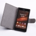 Sony Xperia C Leather Flip Cover Case protective stylish skin case by PDair