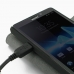 Sony Xperia T Leather Flip Cover Case genuine leather case by PDair
