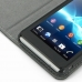 Sony Xperia V Leather Flip Cover Case genuine leather case by PDair