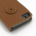 iPhone 5 5s Leather Flip Cover Case (Brown) protective carrying case by PDair