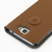 Samsung Galaxy Note 2 Leather Flip Cover Case (Brown) protective carrying case by PDair