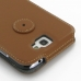 Samsung Galaxy Note 2 Flip Cover (Brown) protective carrying case by PDair