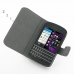 BlackBerry Q10 Leather Flip Cover Case (White) top quality leather case by PDair